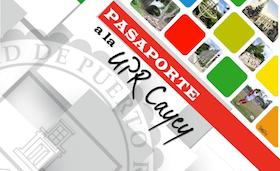 Arte representativo a la actividad Casa Abierta UPR Cayey(Pasaporte a al UPR Cayey)