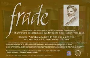 Imagen representativa del Afiche promocional del 141 Aniversario del natalicio de Ramón Frade León
