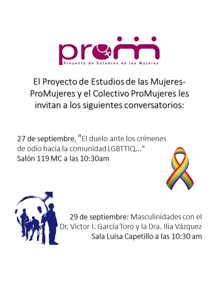 Imagen de promoción a conversatorios de la Oficina de PROM