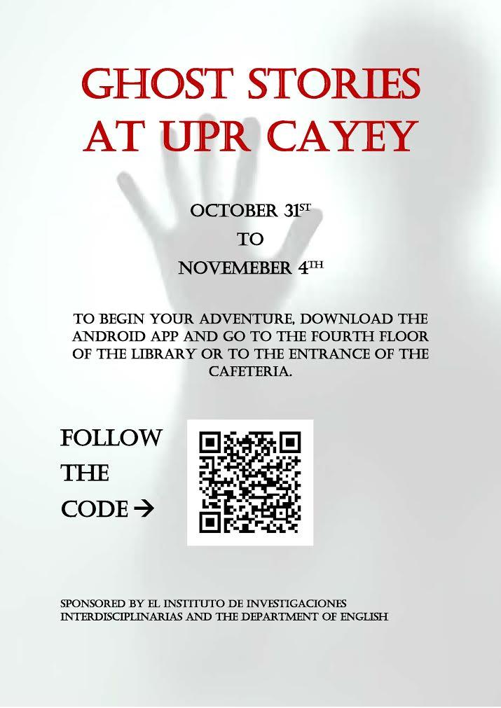 Imagen de promoción a la actividad Ghost Stories at UPR Cayey