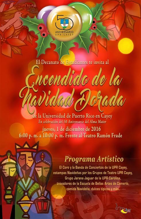 Promoción al Encedido de la Navidad Dorada UPR Cayey