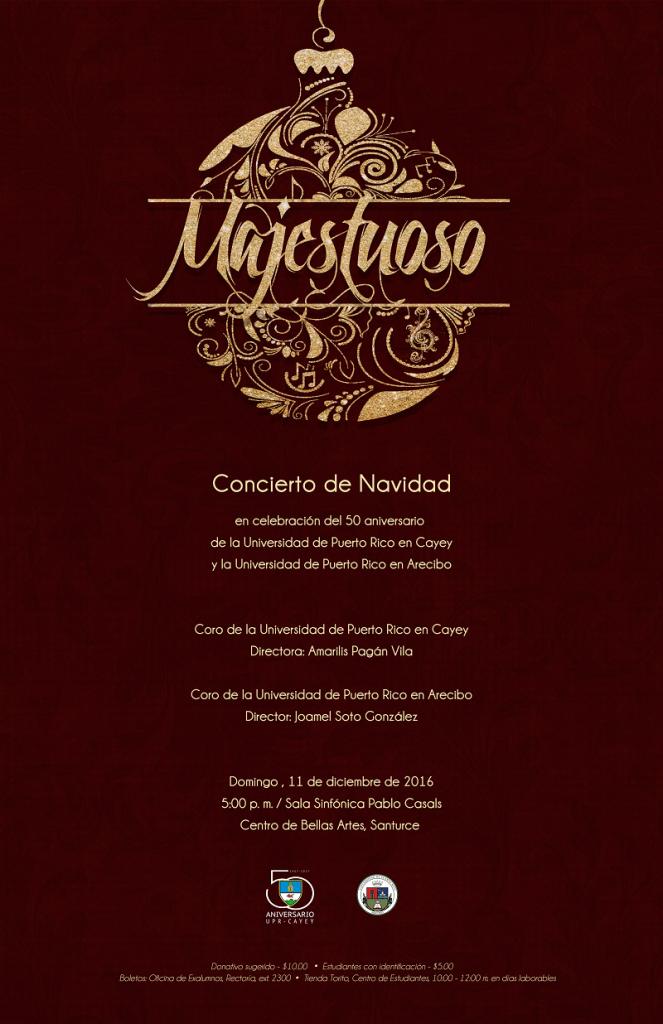 Promoción al Concierto de Navidad en Bellas Artes