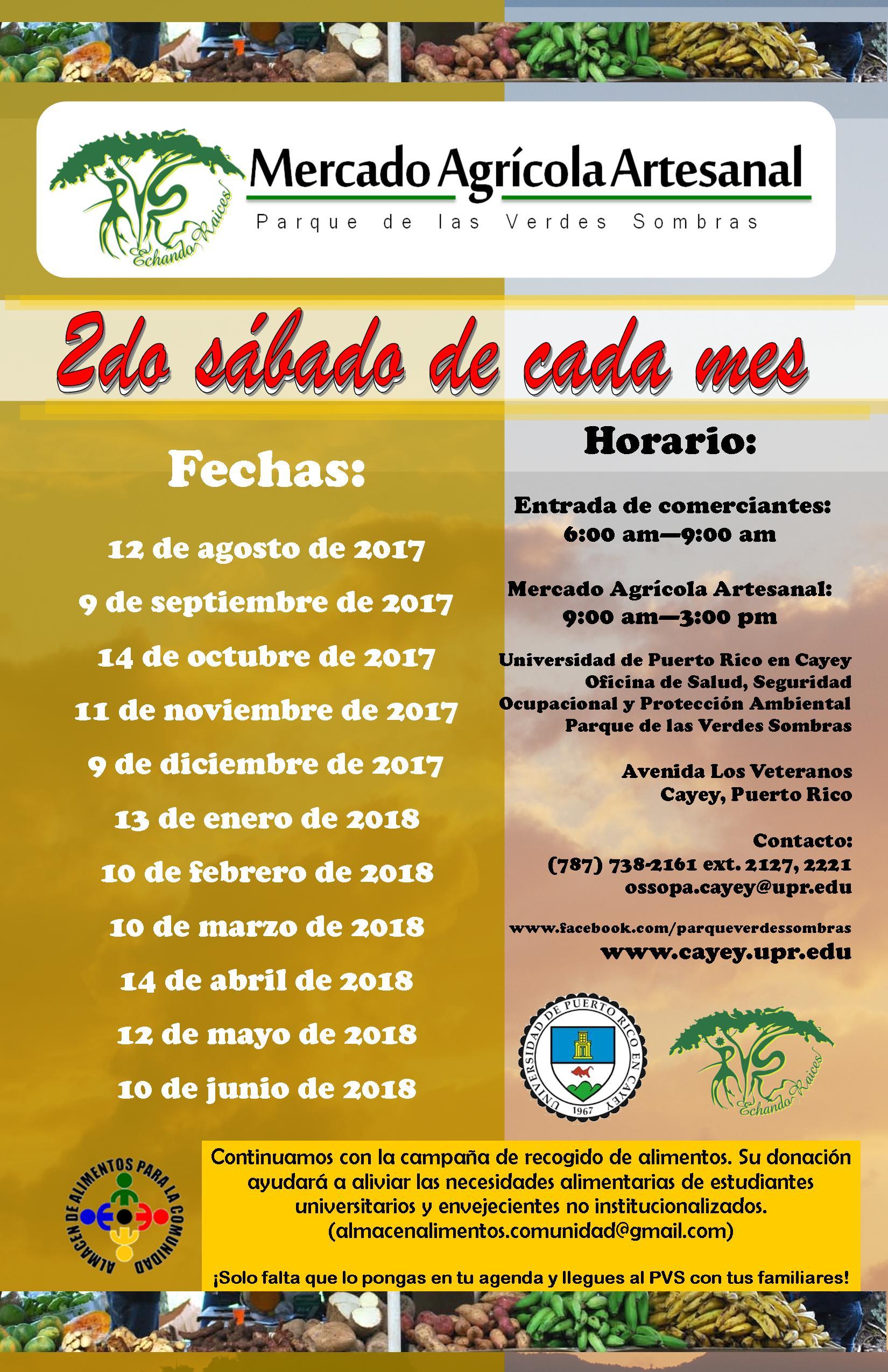 Mercado Agrícola Artesanal Nuevas Fechas Universidad De Puerto