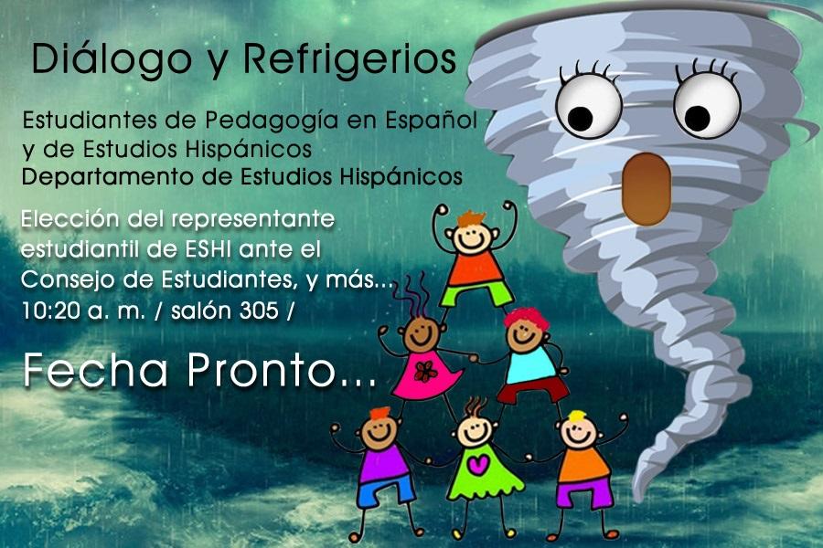 Promoción actividad Diálogo y refrigerios
