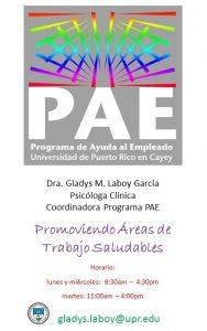 Información de contacto de la Oficina de PAE