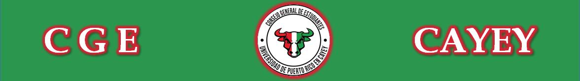 Banner representativo al Consejo General de Estudiantes UPR Cayey