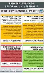 Imagen de Promoción a la Primera Jornada Reforma Universitaria