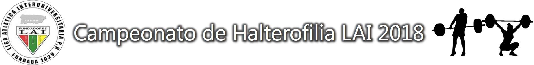 Imagen representativa al Campeonato de Halterofilia LAI 2018
