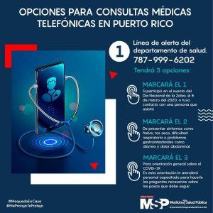Imagen Anuncio de Opciones para Consultas Médicas Telefónicas en PR