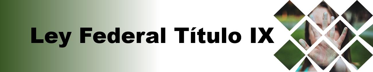 Imagen Banner para la página web de Título IX