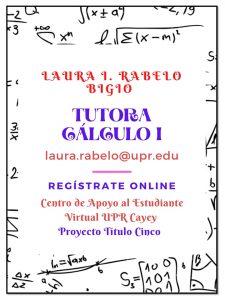 Publicidada Laura Rabelo Tutora Cálculo I Publicidad Institucional CAETV