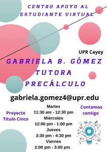 Publicidad Gabriela Gómez Tutora CAETV