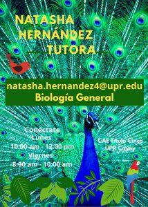Publicidad Natasha Hernández Tutora Biología CAETV